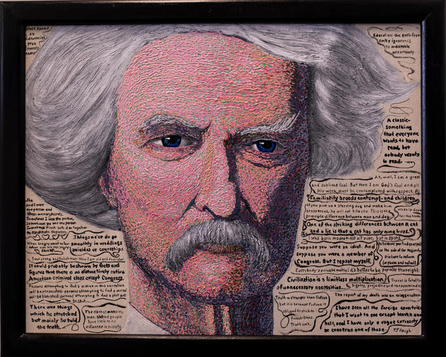 The Eyes of Samuel Clemens by Tim Haugh