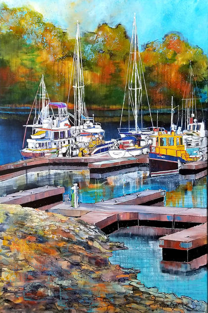 Resting Boats by Vickie McCrary