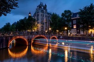 Chris Anderson Boat Lights Amsterdam 16x