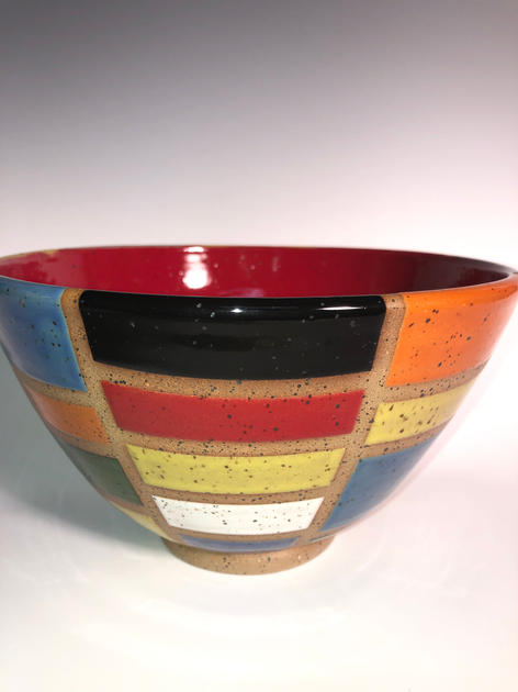 New Age Bowl by Richard Shivers - SOLD