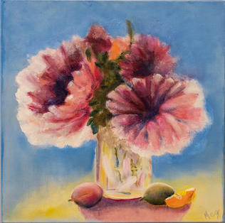 """Flowers & Fruit"" by Meg Evans - SOLD"