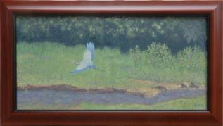 """""""Heron Flight over Suwanee Creek"""" by Dale Gore"""