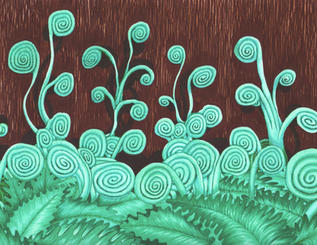 """""""Delicate Fiddleheads"""" by Katherine Faber"""
