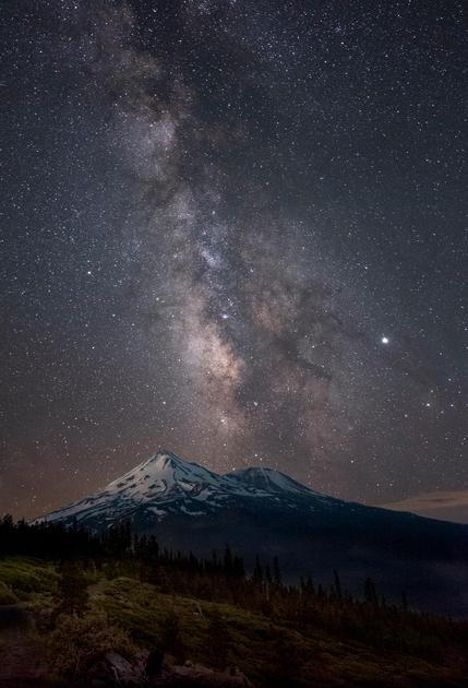 Chris Andersn Monnlit Mt Shasta 16x24 Me