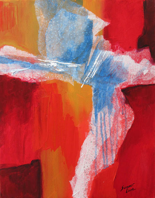 Abstract in Red by Summer Lowe