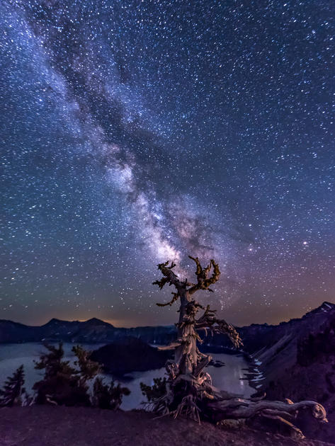 Chris Anderson Milkway Over Crater Lake