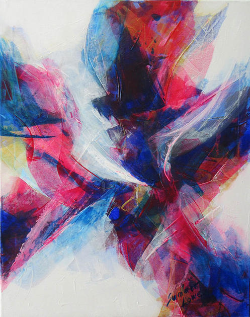 Abstract in Purple by Summer Lowe