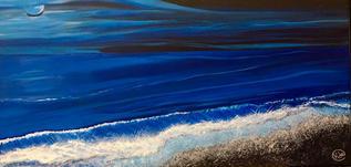 Mar bello de noche by Kathy de Cano