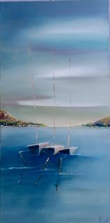 Three Boats by Meg Evans