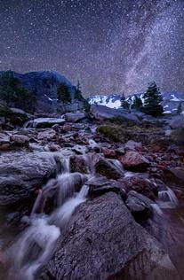 Chris Anderson Monlit Snow Runoff Mt Sha