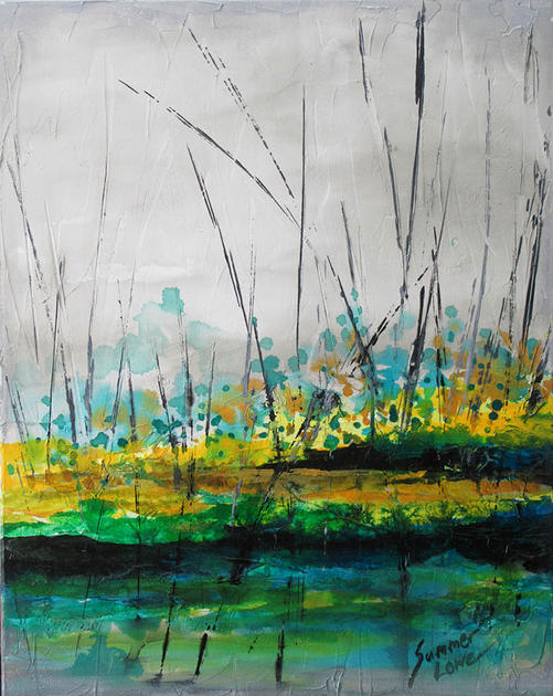 Abstract in Green by Summer Lowe