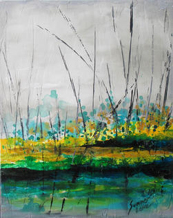 Abstract in Green by Summer Lowe - SOLD