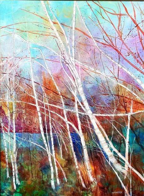 Birch Breeze I by Vickie McCrary
