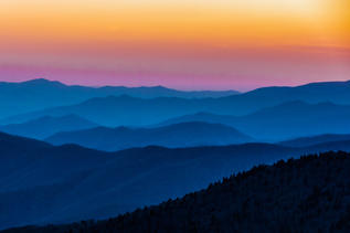 """""""Clingmans Dome Sunset"""" by Gary Bowlick"""