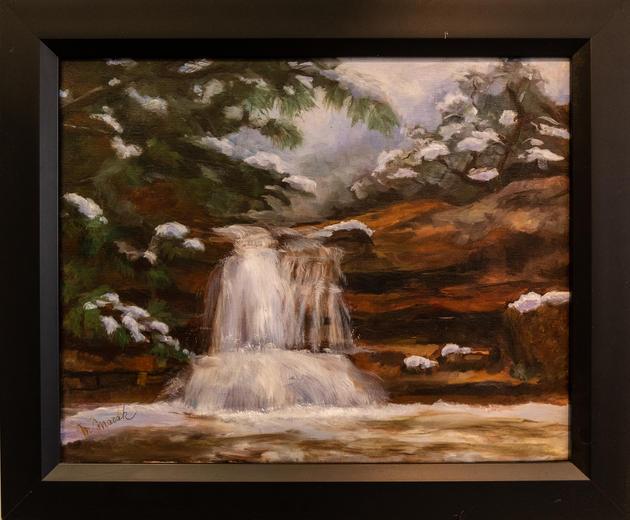 """Winter Waterfall"" by Margaret Masak"