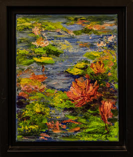 """""""Water Lily"""" Pond by Barbara Pirkle - SOLD"""