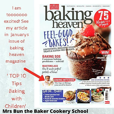 Baking Heaven Magazine Article - 10 Ten Tips for Baking with Children