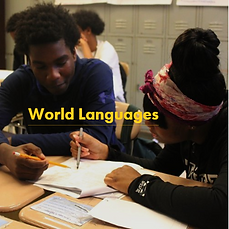 World Languages - students reading in a foreign languge