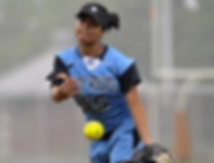 GSC softball player throwing a ball