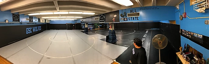 Wrestling room at Progress HS