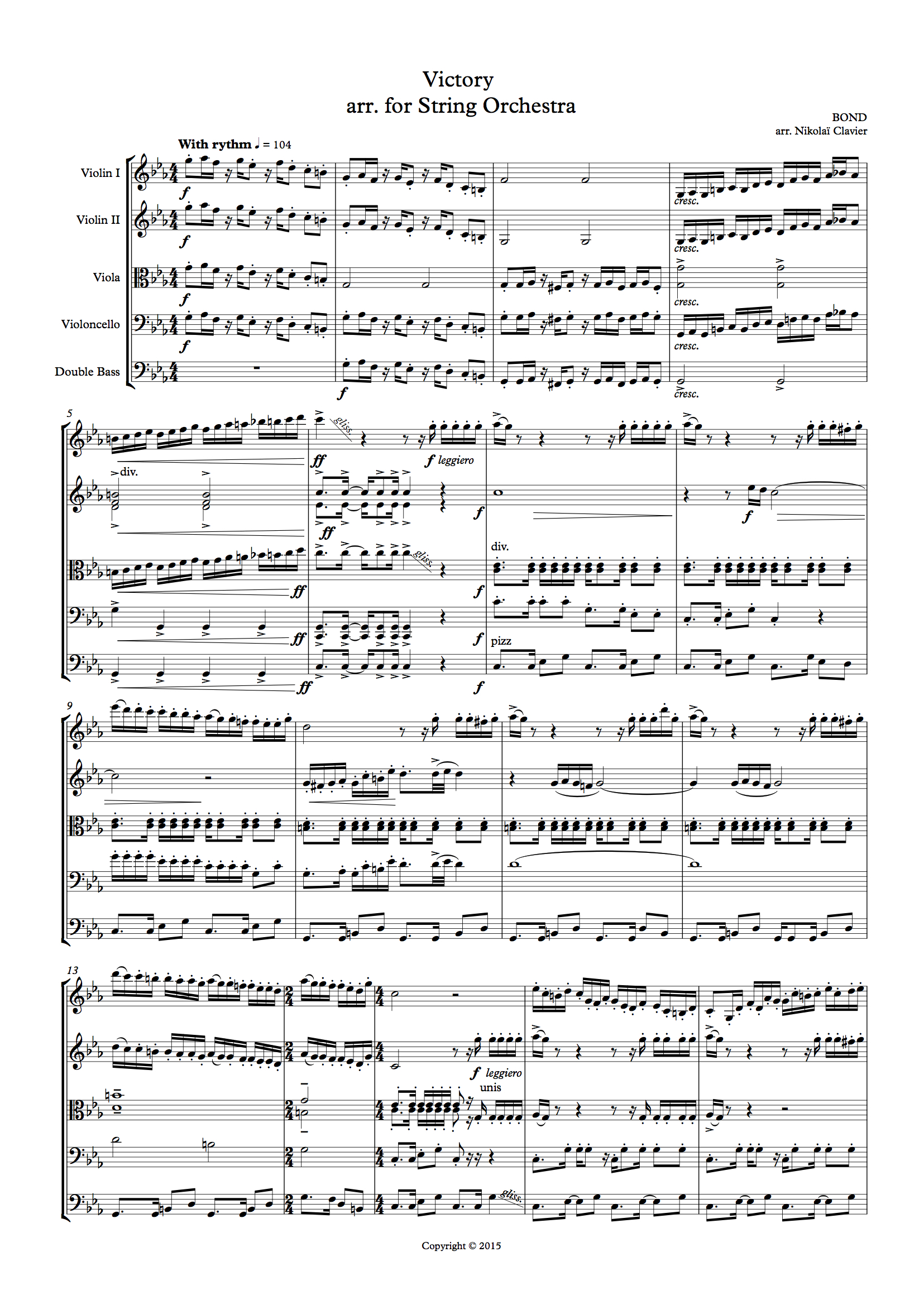 Bond Victory - for string orchestra (score and parts) (dragged)