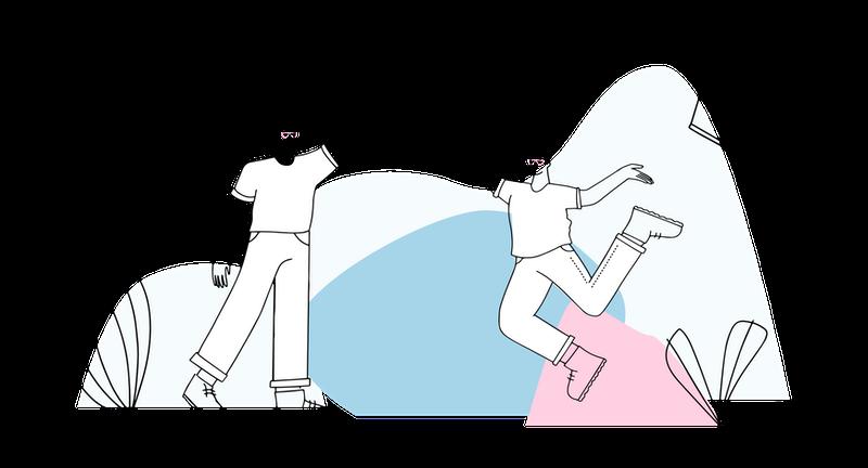 Illustration of teamwork.