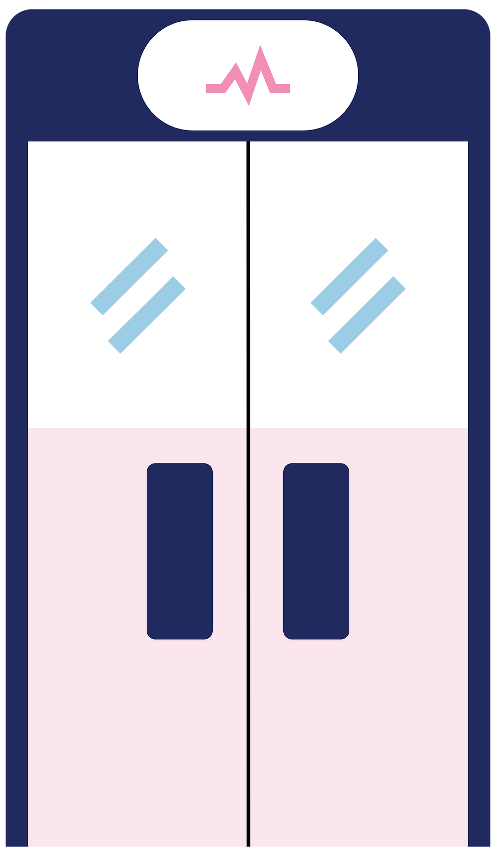 Illustration of a glass door.