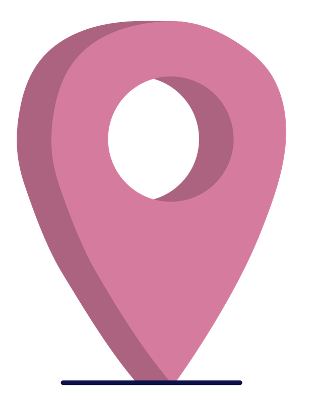 A pink location icon
