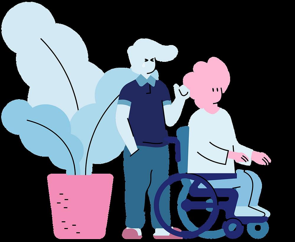 Illustration of caretaking