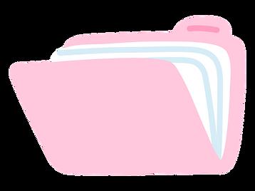 Illustration of a folder of documents