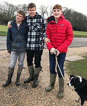 Adults with autism from Stuarts House Care, New Forest on a dog walk