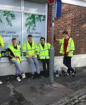 Adults with autism litter picking in the New Forest, Bartley