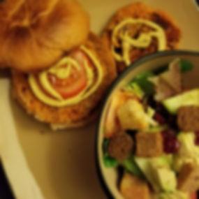 Sweet potato burger or chicken sandwich_