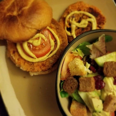 Sweet potato burger or chicken sandwich_