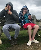 Adults with autism sitting together on a bench
