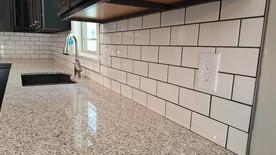 Granite and Tile Backsplash
