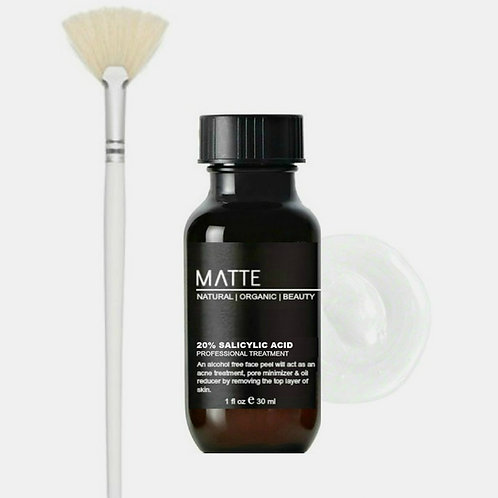 MedSpa Style Salicylic Acid Treatment 20% Cream /w Fan Brush