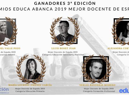 Estos son los mejores docentes de España. 3º Edición Premios Educa Abanca 2019