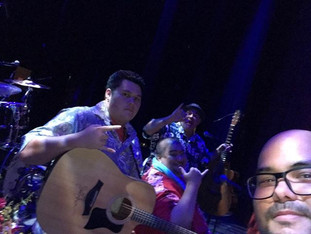 At Hawaii Theatre playing for Kanile'a!!