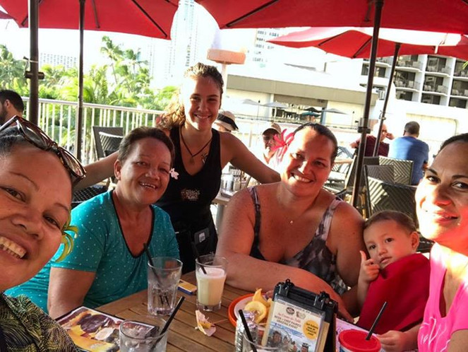 Sylvianne and Her Sister and necies and grand neice with Amber