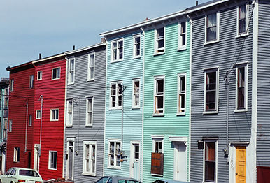 Row of apartment houses