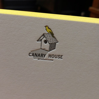 CANARY HOUSE NOTECARD