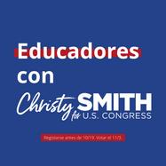 Educadores con Christy