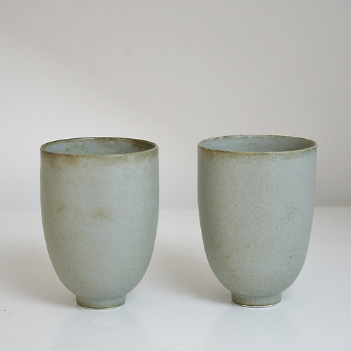 A pair of cups in blue-grey