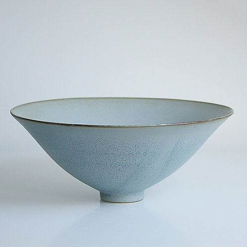A large bowl in blue-grey