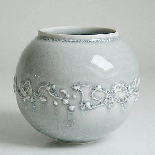 A small moon jar in grey