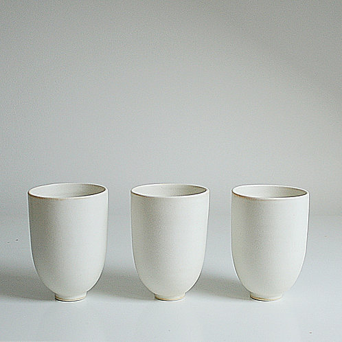 Three cups in cream