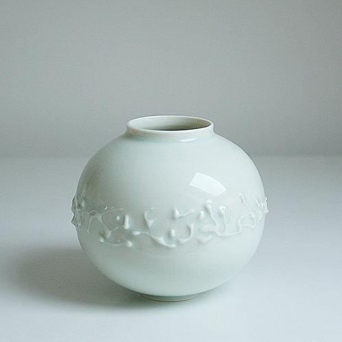A small moon jar in celadon