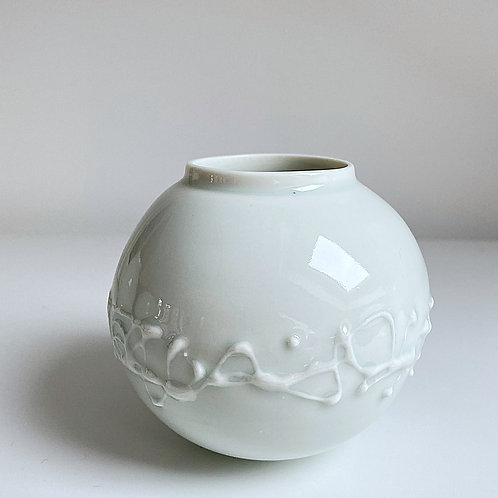 A small moon jar in celadon