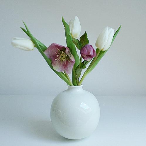 A bud vase in celadon